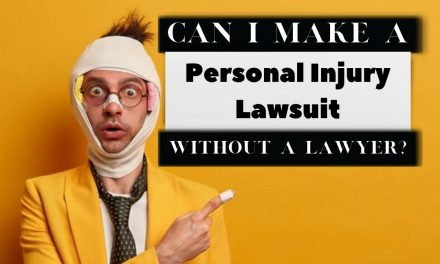 Can I make a personal injury lawsuit without a lawyer?